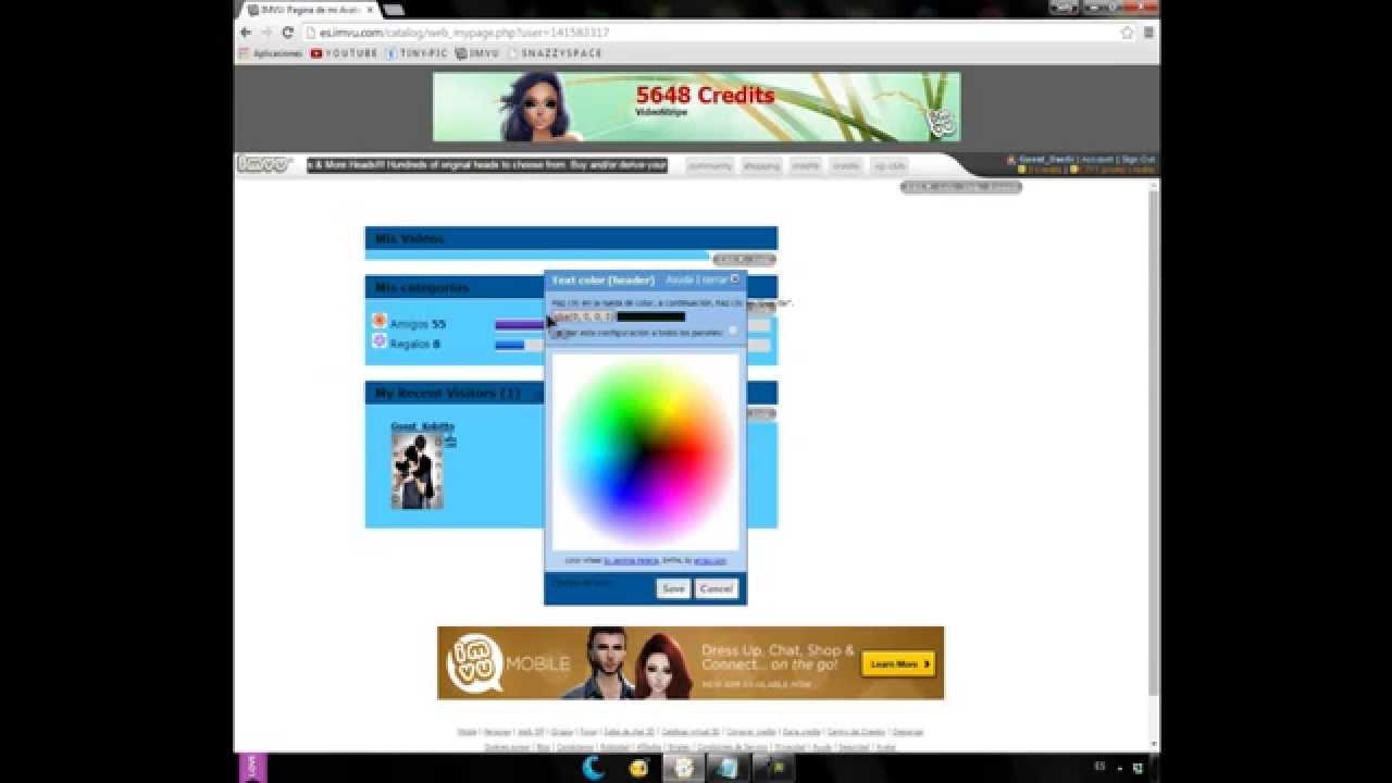 ✡Como editar la Home Page de IMVU✡ Dudas, mensaje emergente y ...