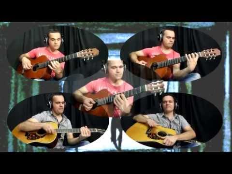 Peter Gunn theme, Guitar Ensemble, Lesson, Arrangement for 5 guitars, Sheet Music