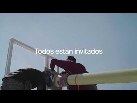 PIGALLE/NIKE rehabilitan las canchas del Gimnasio Olímpico Juan de la Barrera
