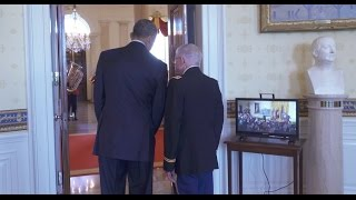 Behind the Scenes with President Obamas Medal of Honor Recipient