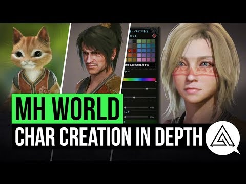 Monster Hunter World | Character Creation & Palico Creation in Depth