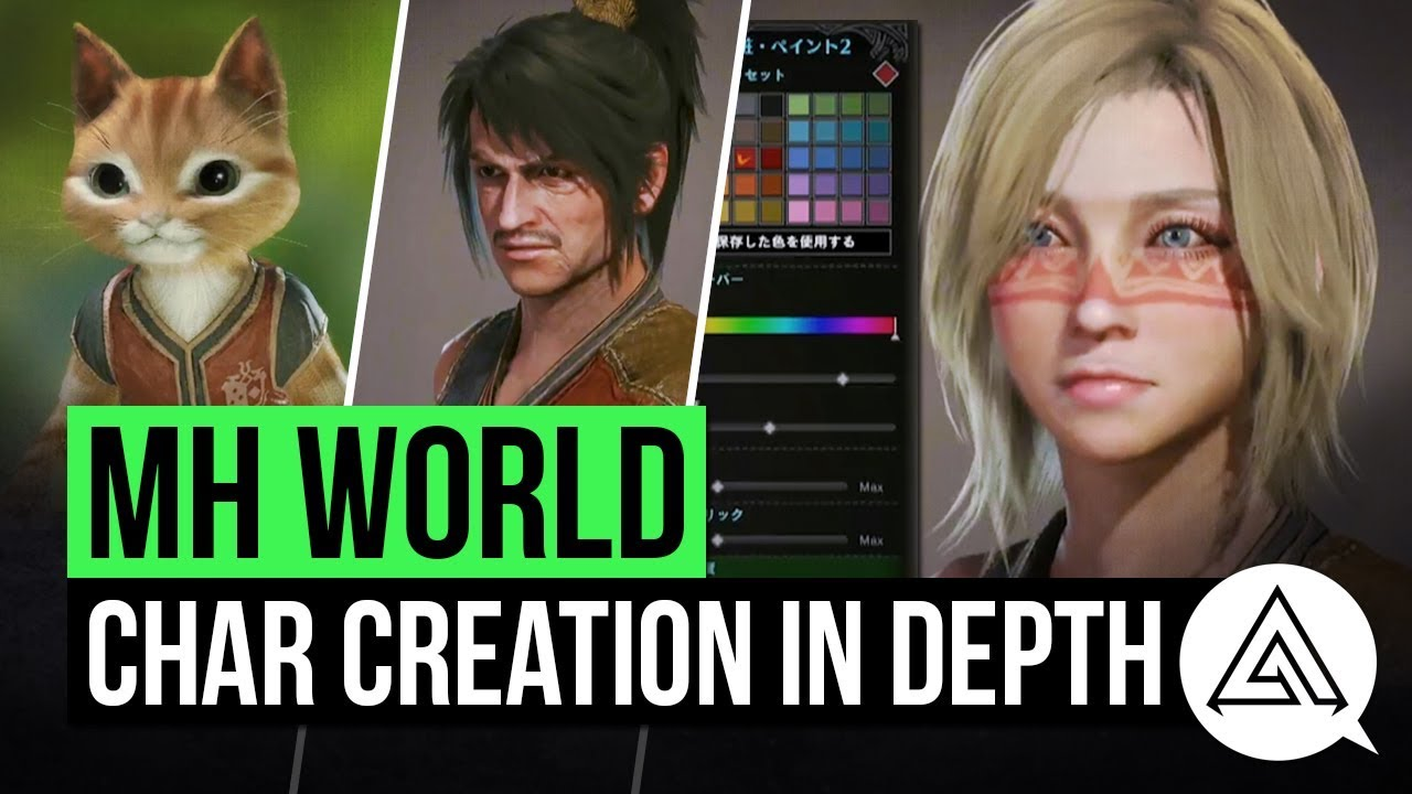 Monster Hunter World Character Creation Palico Creation In Depth Youtube