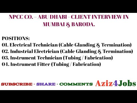 16. NPCC CO. – ABU DHABI - CLIENT INTERVIEW IN MUMBAI & BARODA.