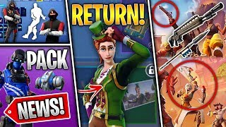 Leaked Shop, Skin Return, 4 New Weapons, PS Pack 5, Wraps, Extra Life Vans! (Fortnite News)