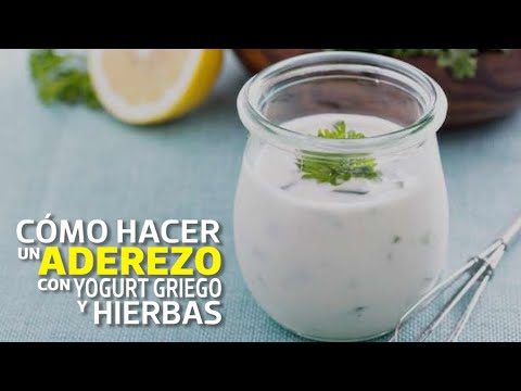 Receta: cómo hacer aderezo de yogurt griego y hierbas