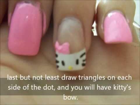 Cute Easy Hello Kitty Nails Youtube