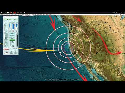 1/14/2019 -- Earthquake Update -- M5.0 to M5.5 spread across Pacific -- M4.1 California coast