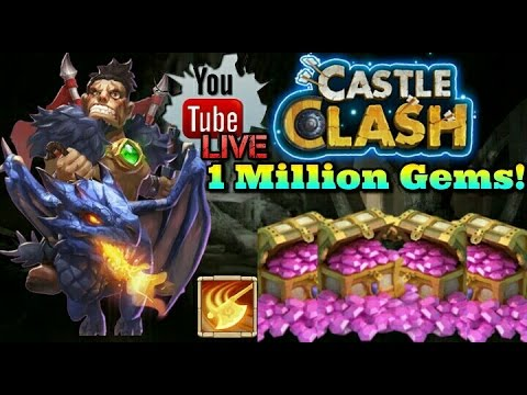 Castle Clash Rolling 1 Million Gems for Dracax!