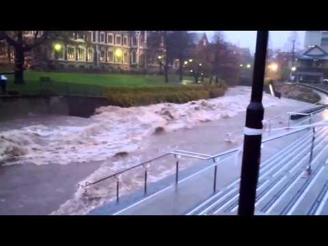 Dunedin Flood - Water of the Leith - Otago University - 3 JUNE 2015