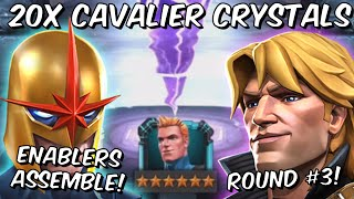 20x 6 Star Longshot Cavalier Crystal Opening Round #3! - 4,000 Likes - Marvel Contest of Champions