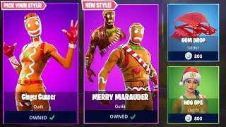 *NEW* MERRY MARAUDER & GINGER GUNNER SKINS in Fortnite!