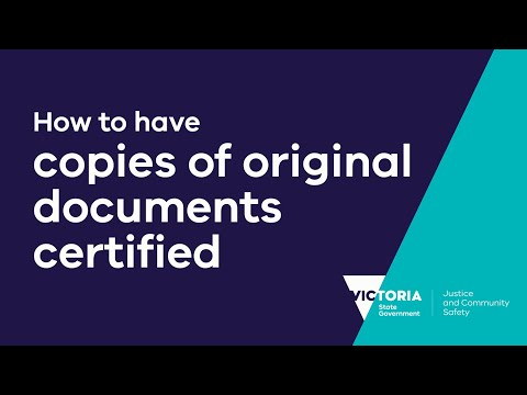 How To Have Copies Of Original Documents Certified