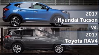 2017 Hyundai Tucson vs 2017 Toyota RAV4 (technical comparison)