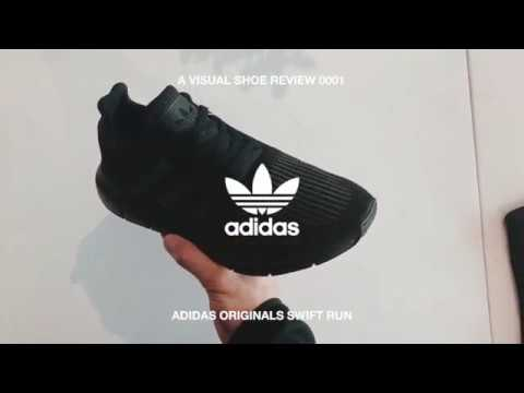 6abda75d3effb IN HAND LOOK – ADIDAS ORIGINALS SWIFT RUN  TRIPLE BLACK  - YouTube