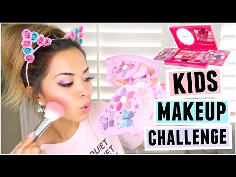 FULL FACE USING ONLY KIDS MAKEUP Challenge!