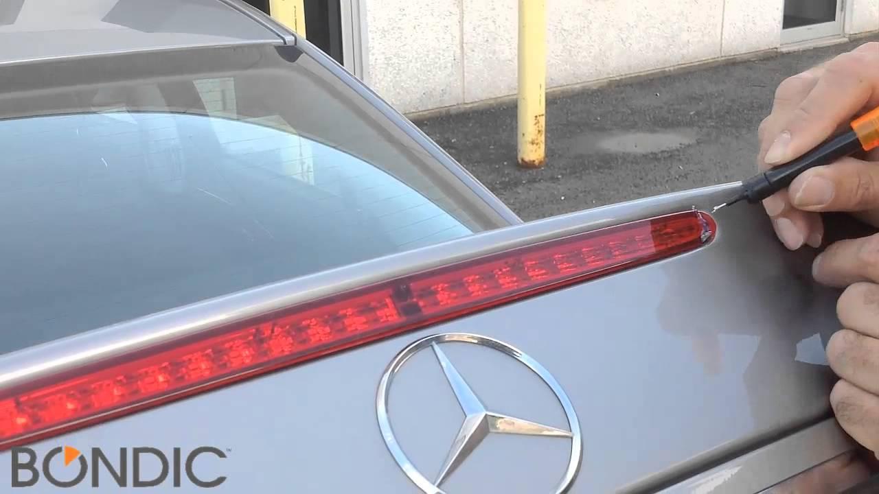 Bondic mercedes e class brake light repair youtube for How to open the trunk of a mercedes benz e320