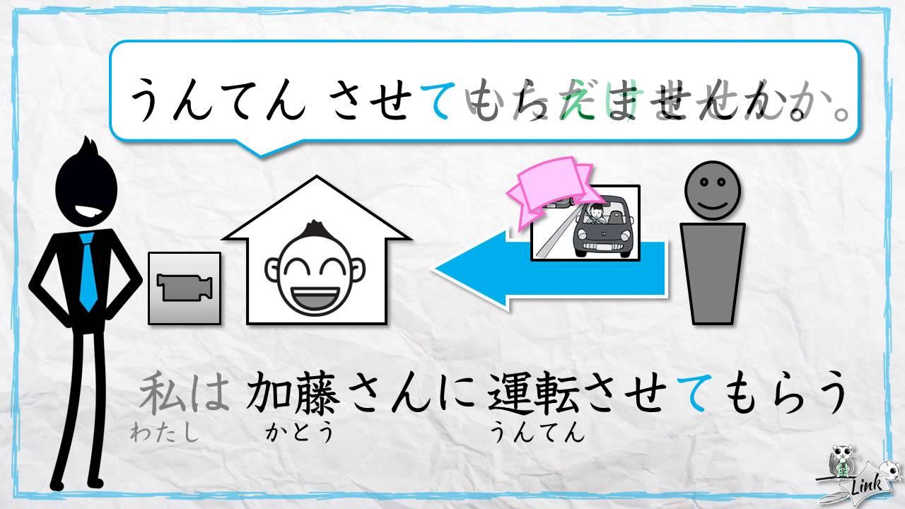 Learn Japanese (JLPT N3): Causative form + kureru/ageru/morau ...