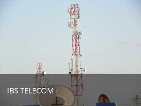 pylone tripodes pour un site radio telecom