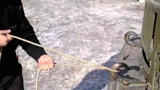3 способ крепления пожарной спасательной веревки за конструкцию