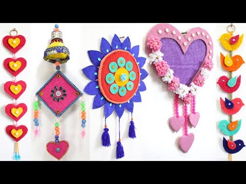 5 EASY WALL HANGING DECORATION from WASTE MATERIALS