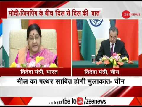 Watch: Sushma Swaraj announces PM Modi's China visit for summit talks with Xi Jinping
