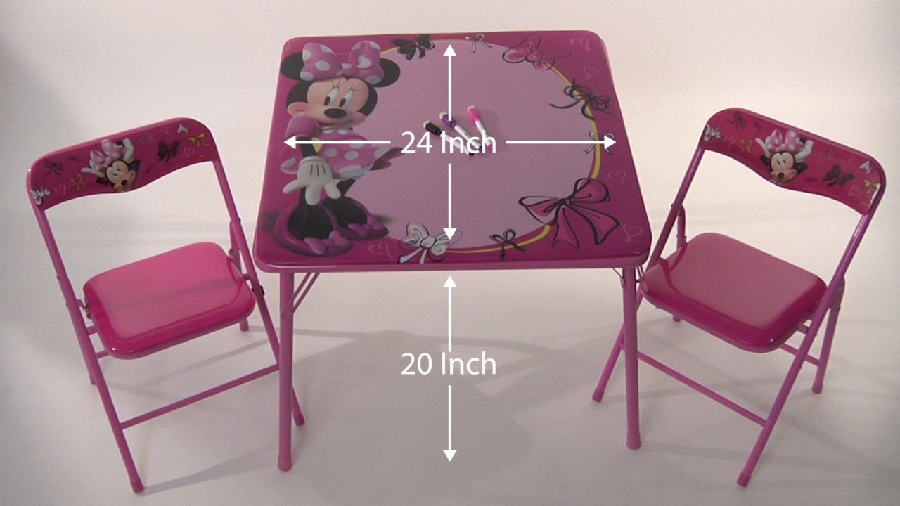Disney Minnie Mouse Erasable Activity Table Set & Disney Minnie Mouse Erasable Activity Table Set - YouTube