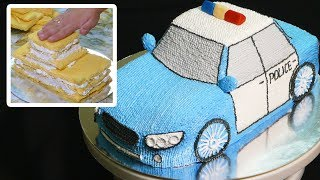 торт полицейская машина мастер класс