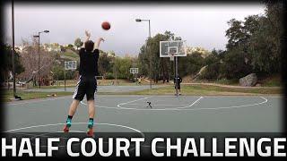 HALF COURT CHALLENGE!!!!