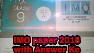 Imo 2018 Question Paper Set B