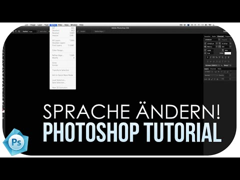 SPRACHE ÄNDERN | PHOTOSHOP TUTORIAL