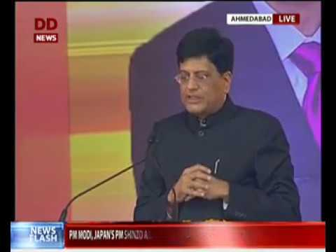 Railway Minister Piyush Goyal addresses gathering at launch of India's First High Speed Rail Link