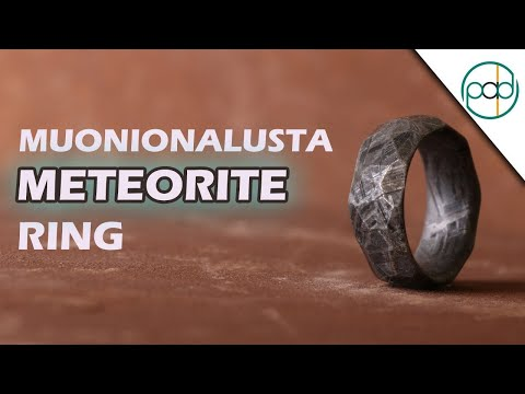 Making A Muonionalusta Meteorite Ring With Obsidian Facets