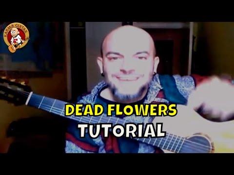 Como tocar DEAD FLOWERS de ROLLING STONES; Tutorial GUITARRA FACIL