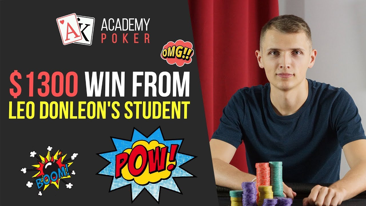 BIG WIN from Leo DonLeon student | Poker Hand Analysis from PRO