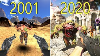 Evolution of Serious Sam Games 2001-2020