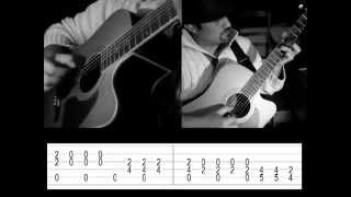 Fingerstyle guitare - Goodbye blue sky / Is there anybody out there with TAB.mp4