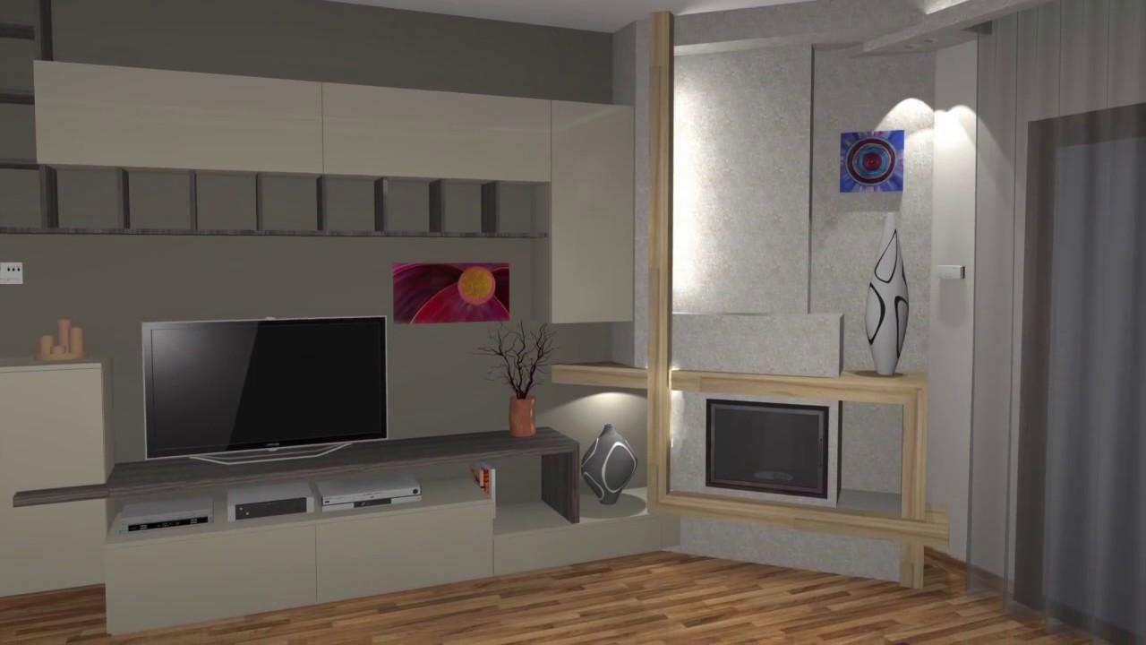 Arredamento Progetto Soggiorno - YouTube