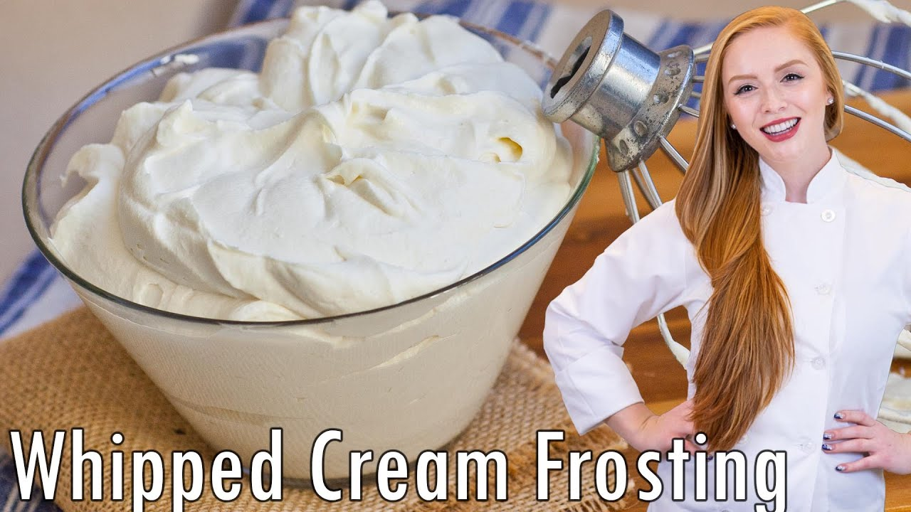 How to make buttercream frosting with whipped cream