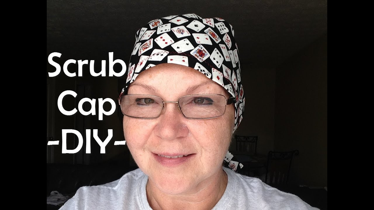 Scrub Cap Printable Pattern And How To Diy Tutorial Scrub Caps Pattern Scrub Hat Patterns Hat Patterns To Sew