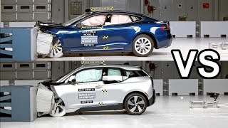 2017 BMW i3 Vs 2016 Tesla Model S - Crash Test