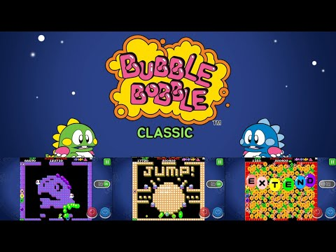 BUBBLE BOBBLE classic [ Android ] Gameplay Walkthrough LVL1-20 and showing game's features