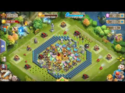 Castle Clash. Sweeping 17 Hbm AE
