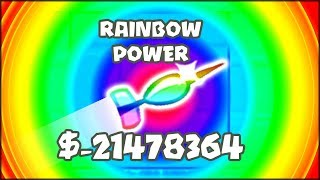 THE MOST POWERFUL DART EVER!! RAINBOW POWERED UPGRADE | Bloons TD Battles Hack/Mod (BTD Battles)