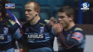 Dan Fish Try - Cardiff Blues v Leinster 20th February 2014