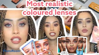 ARE THESE THE MOST REALISTIC LOOKING COLOURED LENSES EVER? SWATI COSMETICS LENSES + 20% OFF    SARON