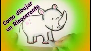 Dibujando un rinoceronte bebé.