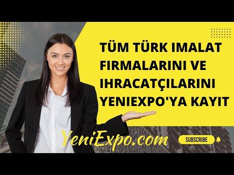 Tüm Türk imalat firmalarını ve ihracatçılarını YeniExpo'ya kayıt
