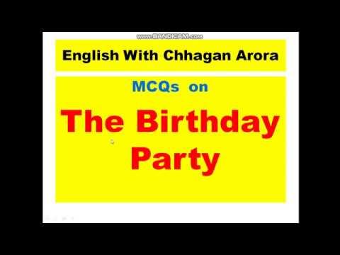 pinter the birthday party summary