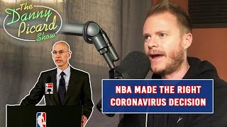 NBA sets great example for rest of the sports world by suspending season - The Danny Picard Show