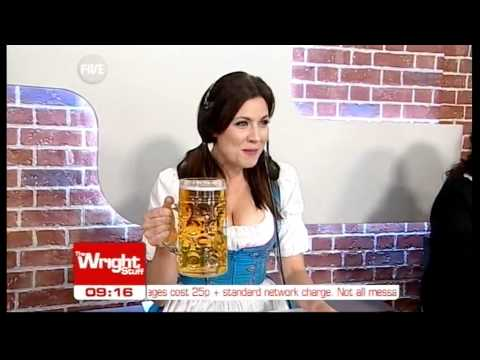 Kirsty celebrates Oktoberfest by dressing up as